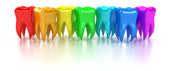 Graphic of colorful teeth