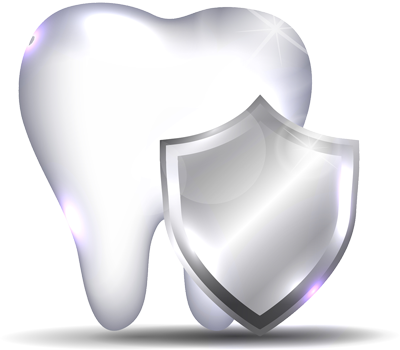 Graphic of tooth and shield