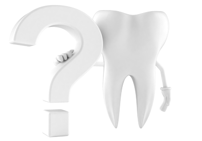 Graphic of tooth and question mark